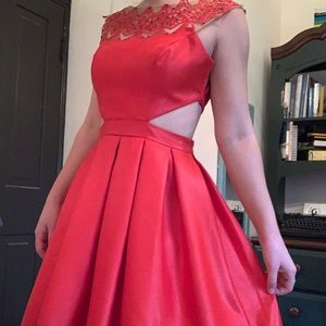 Red Sherri Hill Short Dress